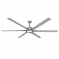 "84"" Titan II by TroposAir - Large Industrial Ceiling Fan - Brushed Nickel Finish"