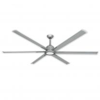 "84"" Titan II by TroposAir - Large Industrial Ceiling Fan - Brushed Nickel Finish"
