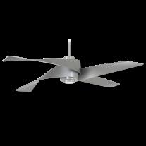 "64"" Minka Aire Artemis IV F903L-BN/SL Ceiling Fan - Brushed Nickel w/ Silver Blades - LED Light"