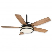 "Casablanca Caneel Bay 59359 56"" Outdoor/Indoor Ceiling Fan - Aged Steel Finish"