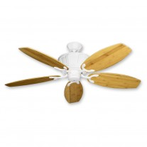 """52"""" Centurion Bamboo Ceiling Fan - Subtle Tropical Styling by Gulf-Coast Fans - Pure White"""