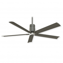 "60"" Minka Aire Clean Ceiling Fan - F684L-GI/BN - DC Motor - Grey Iron w/ Brushed Nickel Finish"