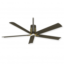 "60"" Minka Aire Clean Ceiling Fan - F684L-ORB/TB - DC Motor - Oil Rubbed Bronze w/ Toned Brass Finish"