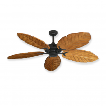 "Gulf Coast 52"" Coastal Air Tropical Ceiling Fan - Oil Rubbed Bronze - 6 Blade Finish Choices"