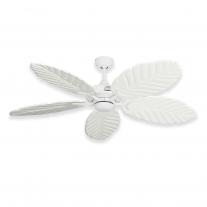 """Gulf Coast 52"""" Coastal Air Tropical Ceiling Fan - Pure White - 4 Blade Finish Choices"""