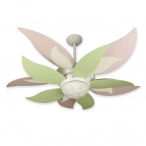 "52"" Craftmade Bloom Ceiling Fan w/ Pink & Green Blades BL52W BBL52-GRN"