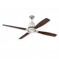Craftmade 60 Inch Ricasso Ceiling Fan - RIC60BNK - Brushed Nickel w/ 6-speed Remote