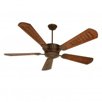 "DC Epic Ceiling Fan by Craftmade - Huge 70"" Custom Carved Wood Blades - Aged Bronze Finish"