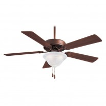 "52"" Minka Aire Ceiling Fan w/ Bowl Light - Oil Rubbed Bronze w/ Marble Glass"
