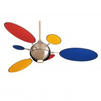"54"" Cirque Ceiling Fan by Minka Aire Fans - F596-BN w/ FB196-RYG Multi-Color Blades"