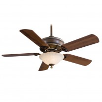 "52"" Bolo Ceiling Fan with Light F620-BCW by Minka Aire Fans - Belcaro Walnut"