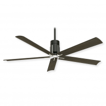 "60"" Minka Aire Clean Ceiling Fan - F684L-MBK/BN - DC Motor - Matte Black w/ Brushed Nickel Finish"