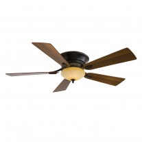 "Minka Aire Delano II 52"" Ceiling Fan F711-DRB - Dark Restoration Bronze w/ Rustic Scavo Light"