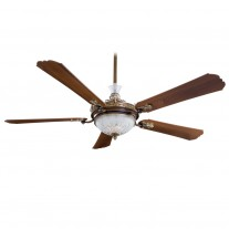 Minka Aire F900-BCW Cristafano 68 Inch Ceiling Fan with Light - Optional Crystal Package