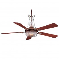 Minka Aire F900-BCW Cristafano 68 Inch Ceiling Fan Including GC900 Crystal Package