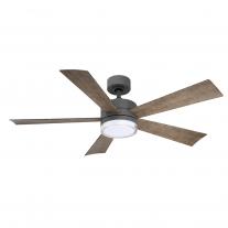 "Modern Forms 52"" Wynd Ceiling Fan | FR-W1801-52L-GH/WG - Graphite/Weathered Gray"