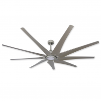 "82"" Liberator Ceiling Fan w/ LED Light by TroposAir - Our Most Powerful Model - Brushed Nickel"