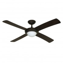 "52"" Gulf-Coast Luna Ceiling Fan - Weathered Brick Damp Rated Outdoor Contemporary Fan"