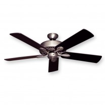 "52"" Meridian Ceiling Fan Satin Steel w/ Multiple Blade Finish Options"