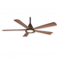 "54"" Minka Aire Cone Ceiling Fan F541L-ORB w/ LED Lighting - Oil Rubbed Bronze - 3, 4, or 5 Blade Mounting Option"