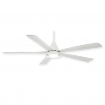 "54"" Minka Aire Cone Ceiling Fan F541L-WH w/ LED Lighting - White - 3, 4, or 5 Blade Mounting Option"
