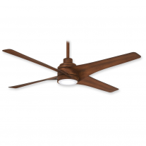 "54"" Minka Aire Swept Ceiling Fan F543L-DK w/ LED Lighting - Distressed Koa Finish w/ DC Motor"