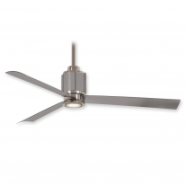 "54"" Minka Aire Gear Ceiling Fan F736L-PN/BS w/ LED Lighting - Polished Nickel Brushed Steel Finish"