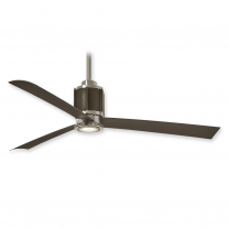 "54"" Minka Aire Gear Ceiling Fan F736L-PN/ORB w/ LED Lighting - Bronze & Polished Nickel Finish"