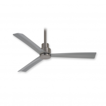 "44"" Minka Aire F786-BNW Simple Indoor/Outdoor Ceiling Fan w/ Remote - Brushed Nickel Wet"