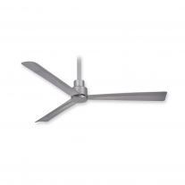 "44"" Minka Aire F786-SL Simple Indoor/Outdoor Ceiling Fan w/ Remote - Silver"