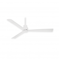 "44"" Minka Aire F786-WHF Simple Indoor/Outdoor Ceiling Fan w/ Remote - Flat White"