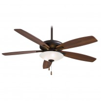 "Minka Aire Mojo Ceiling Fan w/ Light F522-ORB - 52"" Reversible Med. Maple / Dark Walnut Blades"