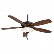 """Minka Aire Mojo Ceiling Fan w/ Light F522-ORB - 52"""" Reversible Med. Maple / Dark Walnut Blades"""