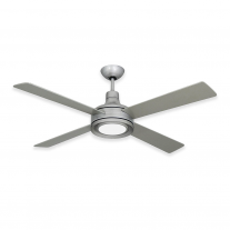 "52"" Quantum II Ceiling Fan -  Modern 4 Blade by TroposAir - Brushed Nickel"