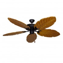 "58"" 100 Series Raindance Ceiling Fan Matte Black - 5 Solid Wood Blade Finish Options"