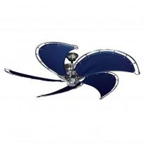 "52"" Raindance Nautical Ceiling Fan Brushed Nickel, Sail Blades 4 Finish Choices"