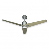 "56"" Reveal LED Ceiling Fan by TroposAir - 6 Speed DC Motor - Brushed Nickel Finish"