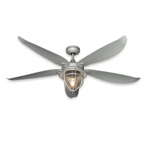 "59"" TropoaAir St. Augustine Ceiling Fan w/ LED Light - Galvanized Finish"