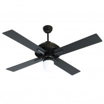 "52"" South Beach Ceiling Fan by Craftmade Fans - SB52FB4 Flat Black Outdoor WET"