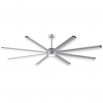 96 Inch Fanimation Stellar Ceiling Fan - MAD7998SLW Silver w/ B7998-96 Blades