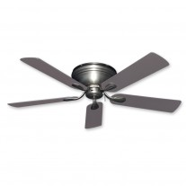 "52"" Gulf Coast Stratus Flush Mount Ceiling Fan - Satin Steel"