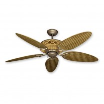 "52"" Gulf Coast Tiki Outdoor Ceiling Fan - Realistic Faux Bamboo Motor Housing"