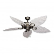 "52"" Gulf Coast Trinidad Ceiling Fan Ant. Bronze - 3 Leaf Finishes"