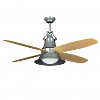 "52"" Union Ceiling Fan by Craftmade - UN52GV4 Galvanized Steel Finish w/ Light Oak Blades"