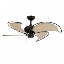 "40"" TroposAir Voyage Ceiling Fan In Oil Rubbed Bronze With Khaki Blades"