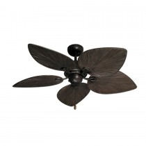 "42"" Bombay Tropical Ceiling Fan - Oil Rubbed Bronze - Oiled Bronze Blades"