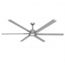 """TroposAir Titan II 84"""" Ceiling Fan - Brushed Nickel (shown with optional LED light)"""