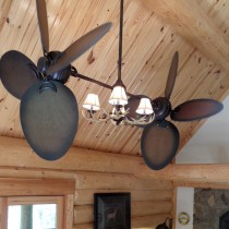 Rustic Dual Ceiling Fan - Twin Star III