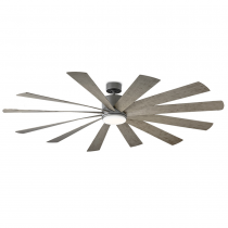 "80"" Modern Forms Windflower Ceiling Fan - Graphite / Weathered Gray"