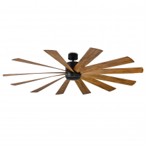 "80"" Modern Forms Windflower - FR-W1815-80L-MB/DK (shown w/ light cover)"